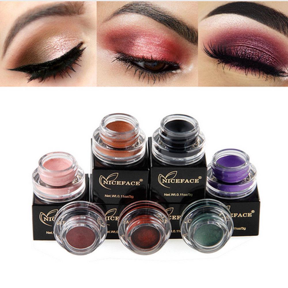 Women Glitter Eyeshadow Eyeliner Cream Eye Shadow Long