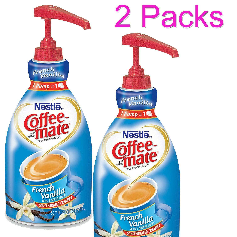 2 pack nestle coffeemate liquid creamer pump french