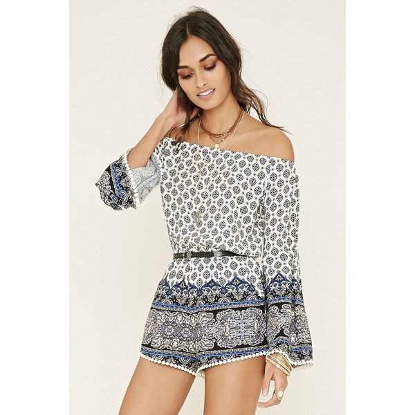 Forever 21 Womens Off The Shoulder Romper 28 Liked On