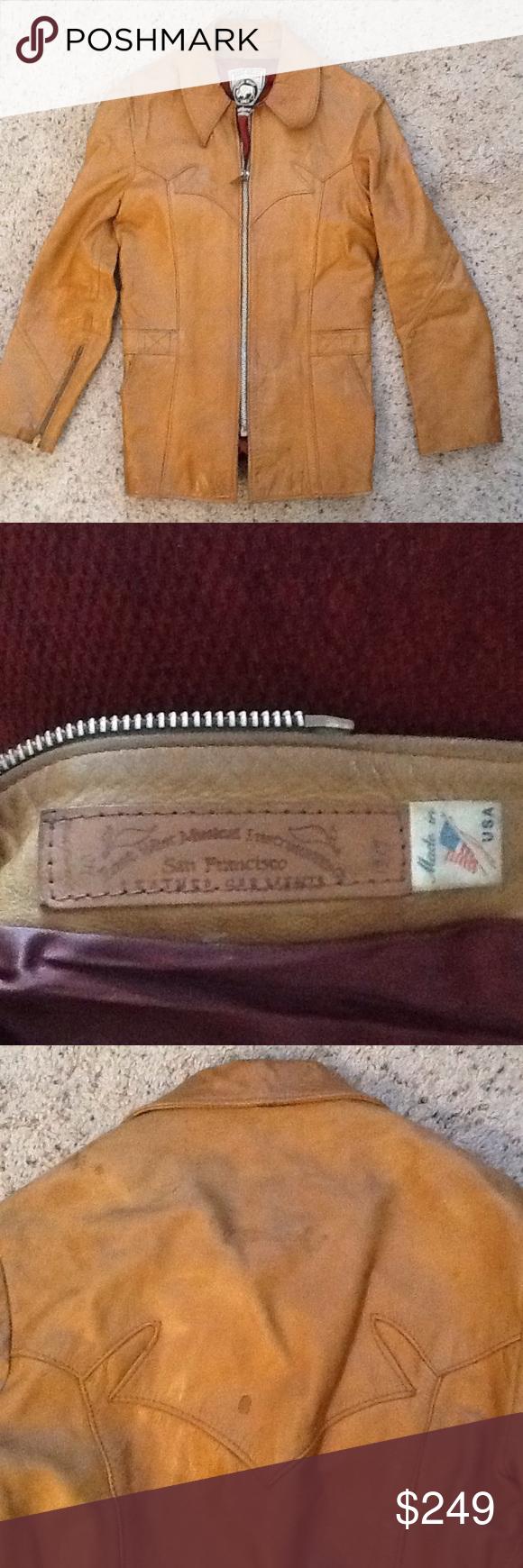 Sold True Vintage East West Instruments Jacket Vintage Jacket Etsy Fashion Brown Leather Jacket