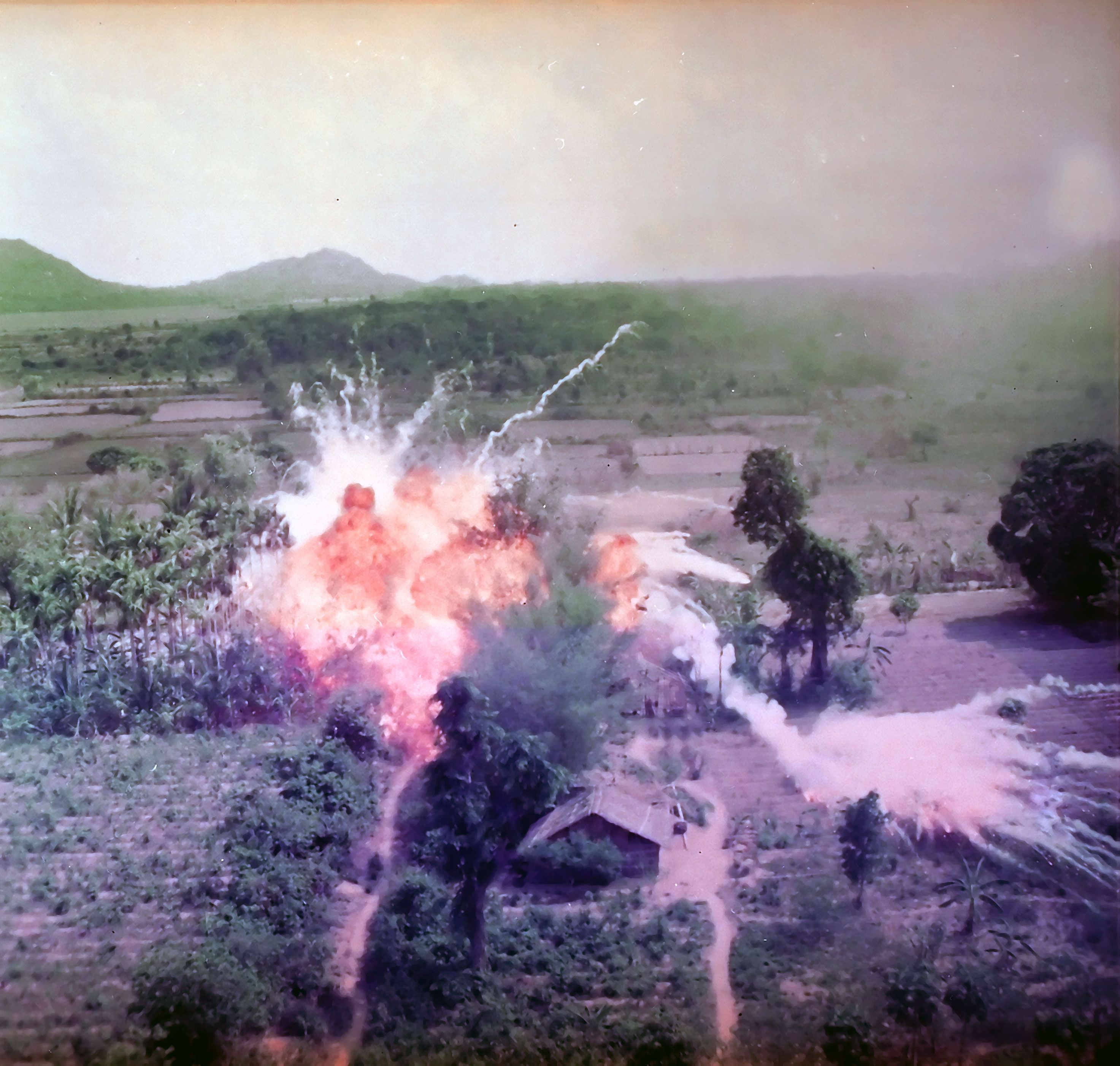 This is a picture of Napalm being dropped onto Viet Cong