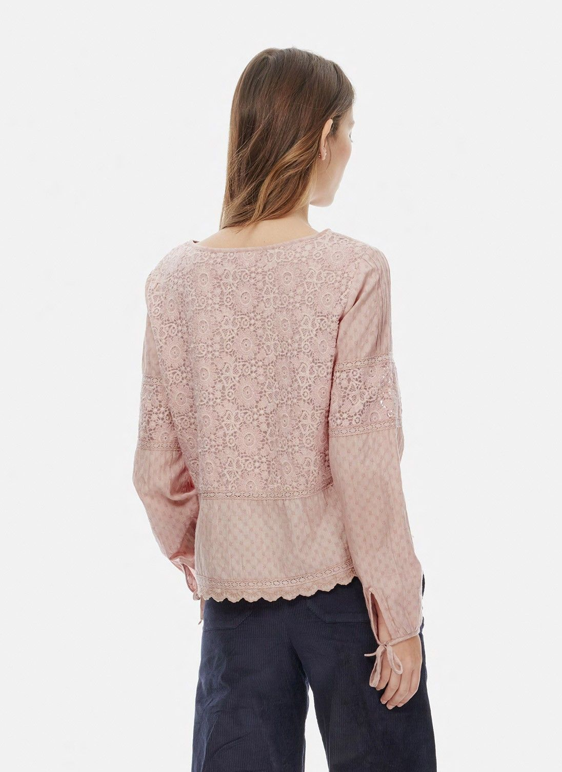 5ccb9777a05958 Textured Lace Blouse by Brora | Clothing | Lace, Shirt blouses, Blouse