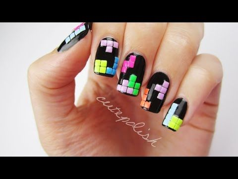 Tetris Nails Nerd Nail Series By Cute Polish Art Amazing