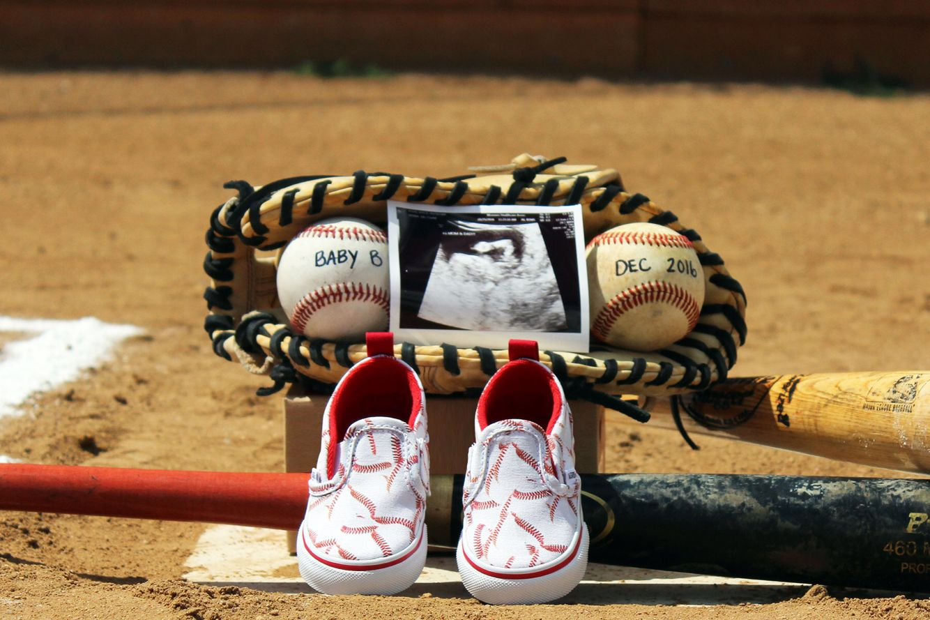 b6b521782e76e Baseball pregnancy announcement | Announcement Pictures | Baseball ...