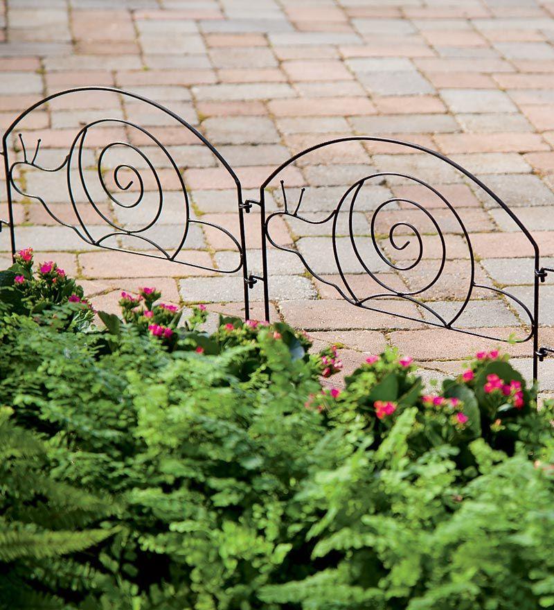Wrought Iron Garden Edging With Snail Design