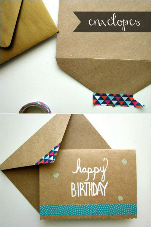 images about Washi Tape on Envelopes Washi