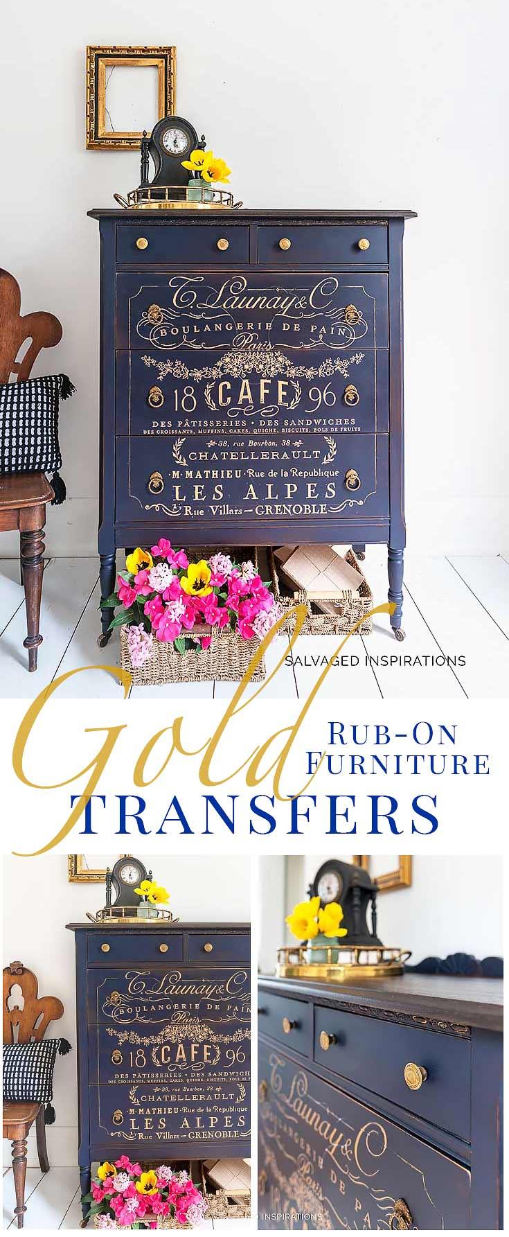 Somewhere In France GOLD Tallboy Makeover Diy furniture