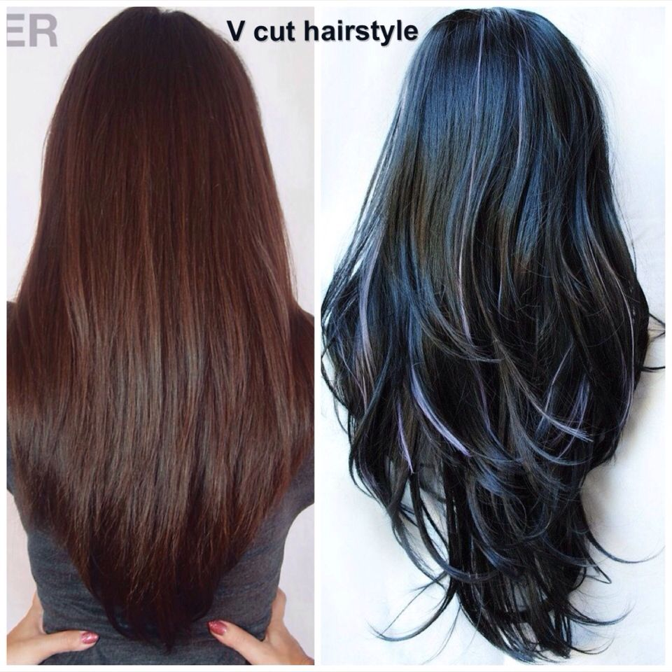 Deep V Haircut With Layers Hair Color Ideas And Styles For 2018