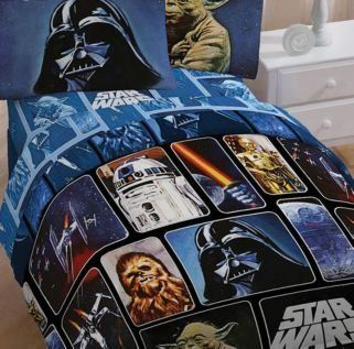 Star Wars 4pc Twin Bedding Set Comforter 3pc Sheet Set Darth