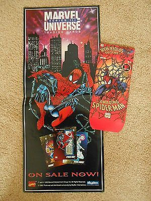 #Amazing spiderman #trading cards box (empty+ skybox marvel #universe promo poste,  View more on the LINK: 	http://www.zeppy.io/product/gb/2/262182024332/