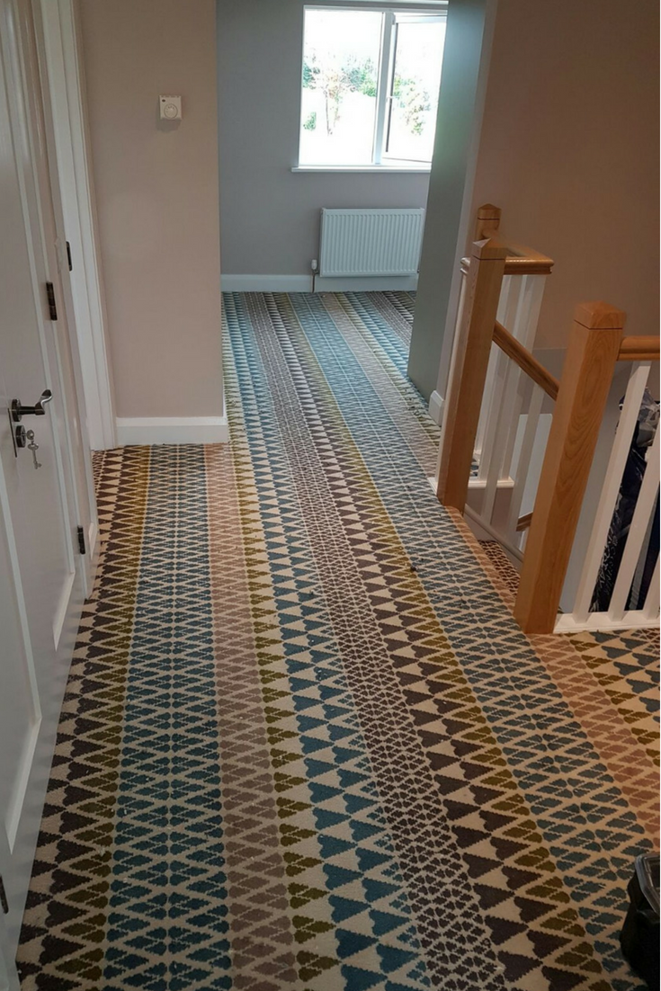 Quirky B Margo Selby Fair Isle Annie 7210 Quirky B Carpet | Quirky Carpets For Stairs | Designed | Statement | Popular | Flower Patterned | Flowery
