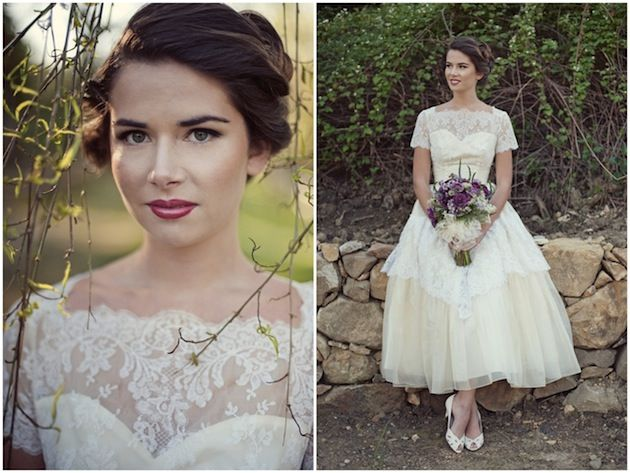 Vintage Wedding Dress & Floral Accessory Inspiration | Vintage ...
