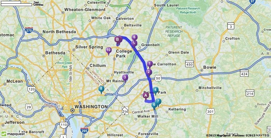 Driving Directions From Fedex Field In Hyattsville Maryland 20785