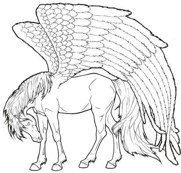 Pin By Coloring Fun On Horses Pegasus Coloring Pages Princess Coloring Pages
