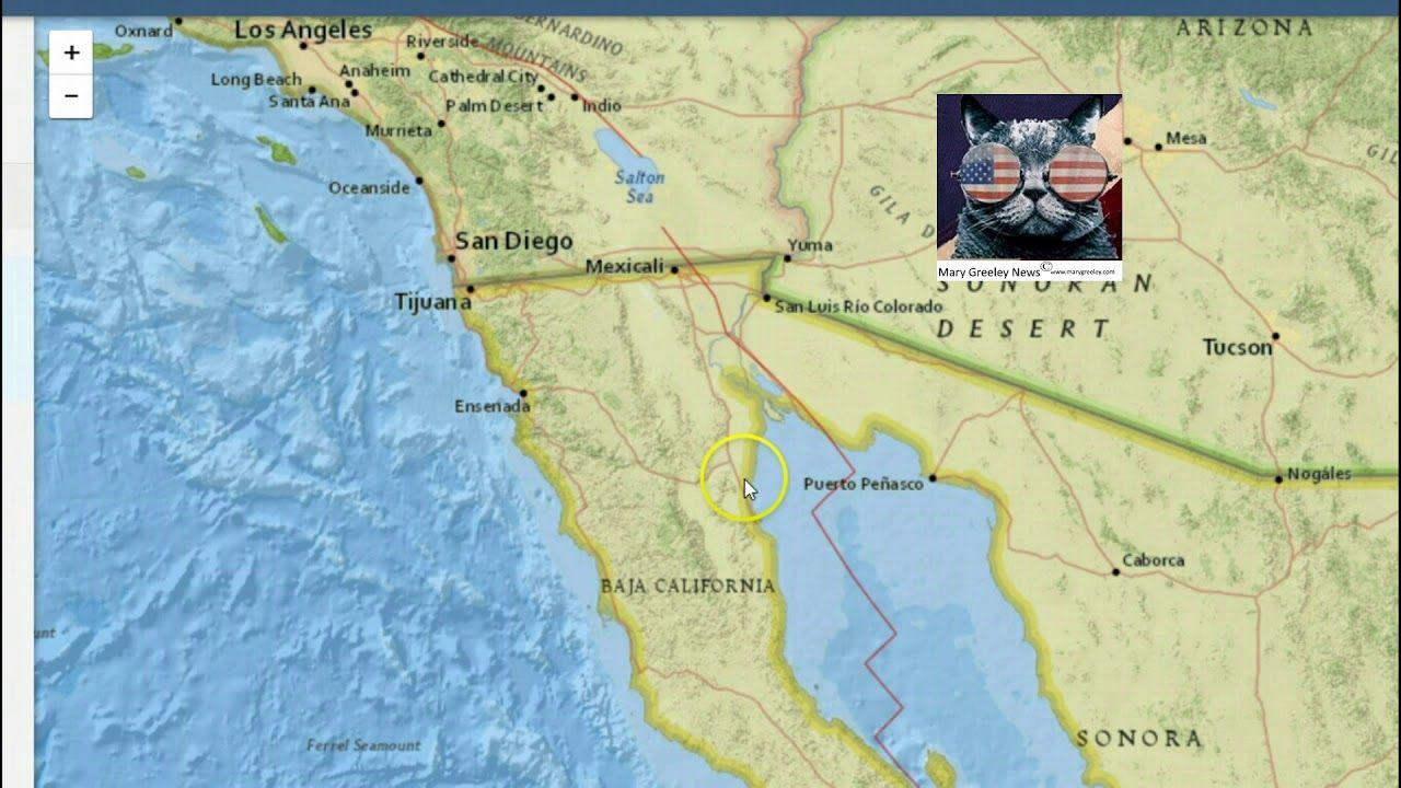 California Quake Map Usgs%0A Earthquakes Hit Oklahoma  Quakes Along California u    s San Andreas Fault    EARTHQUAKE NEWS   Pinterest