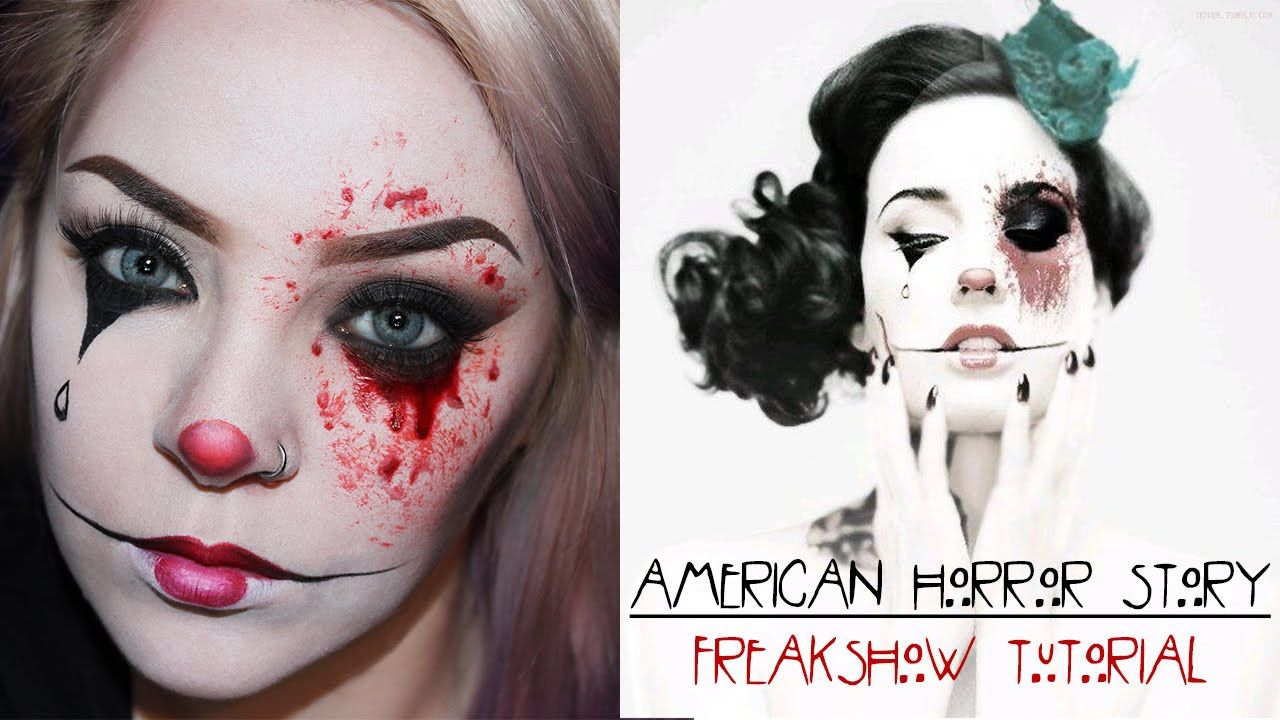 halloween american horror story freak show makeup tutorial halloween american horror story freak show makeup tutorial shlemonade