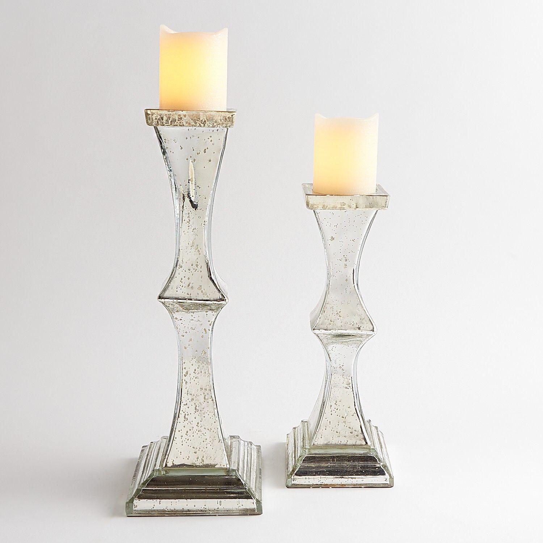 Silver Mercury Pillar Candle Holder - Pier 1 Imports