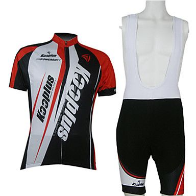 1398e0352 Kooplus-Men s BIB Short Sleeve Cycling Suits (Red and White) – EUR € 29.69