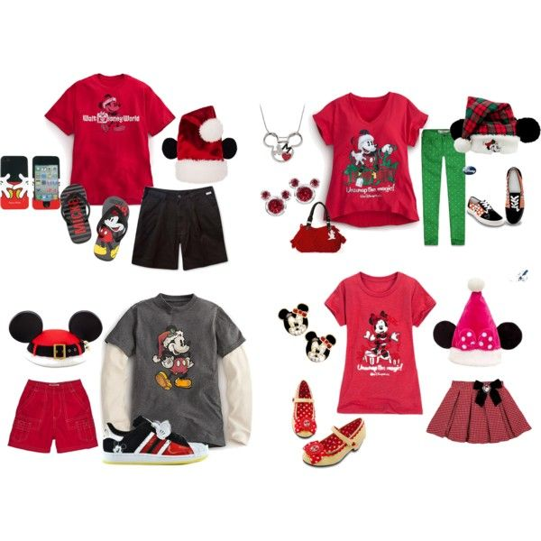 8581ca7b Mickey's Very Merry Christmas Party Family Outfits by mamaspartydress on  Polyvore featuring Disney, Abercrombie & Fitch, adidas, christmas, disney  and ...