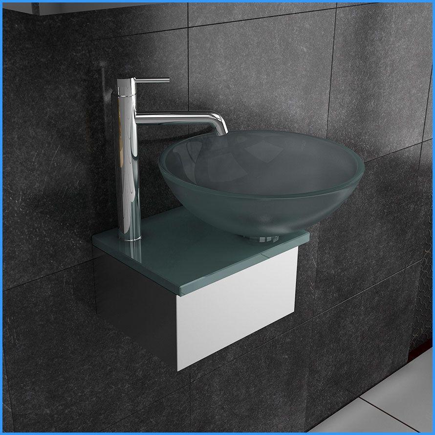 Handwaschbecken Edelstahl Glas Gaste Klein Wc Waschtisch Neu Mit