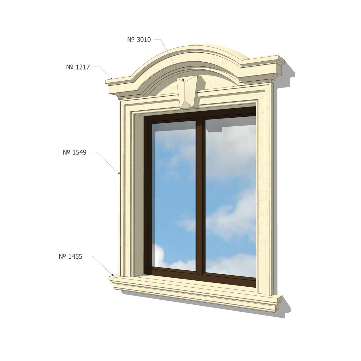 Window Framing Trim 10 Exterior Frame Designs Window Framing Trim On The Facade Of The H In 2020 House Designs Exterior Front Window Design Exterior Wall Cladding