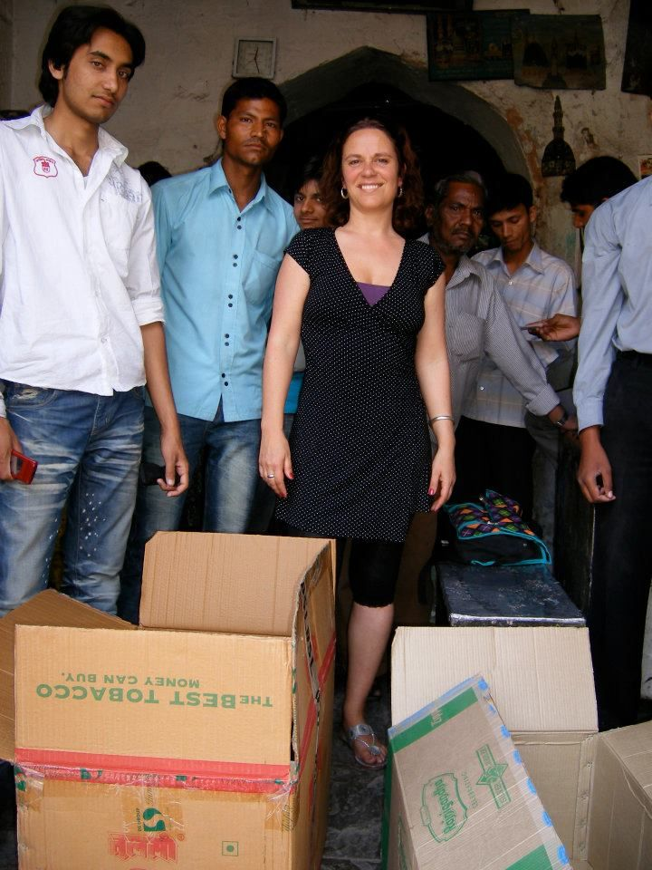 Me and my painters in Jaipur India 2009