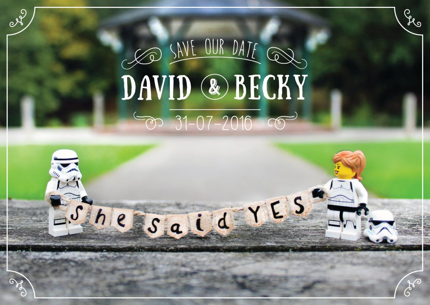 Save The Date Printable And Customisable Star Wars Lego Save The