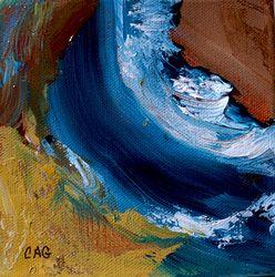 "Carol Gatchel- Waves II 5"" x 5"" Acrylic/Mixed"