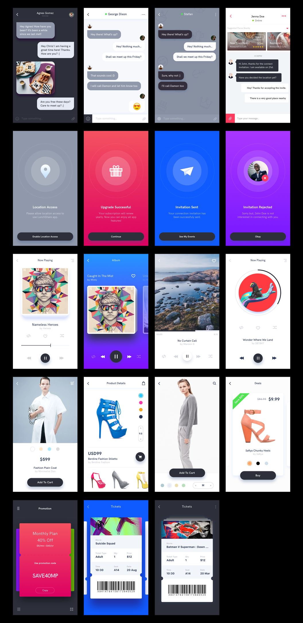 Lynx is a mobile app UI kit created using Sketch app, to help you