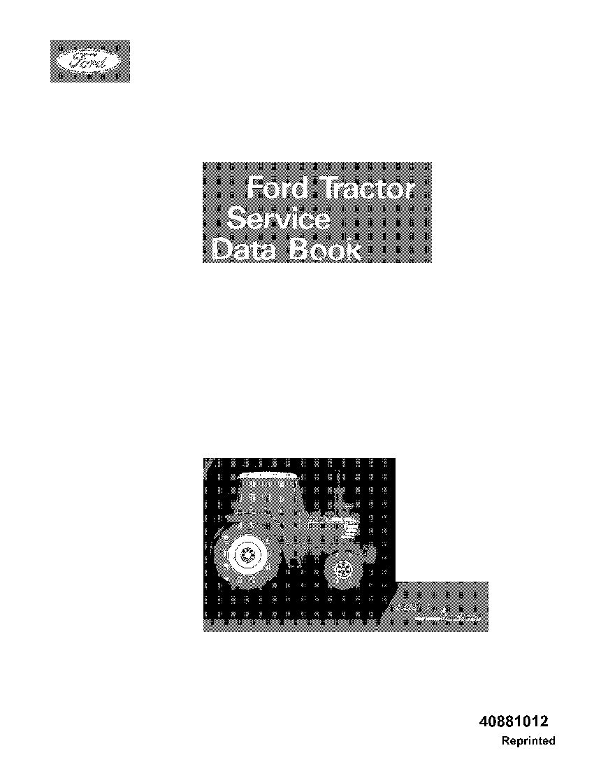 Ford Service Data Book Tractor Workshop Repair Service Manual Pdf Download Repair Manuals Manual Pdf Download