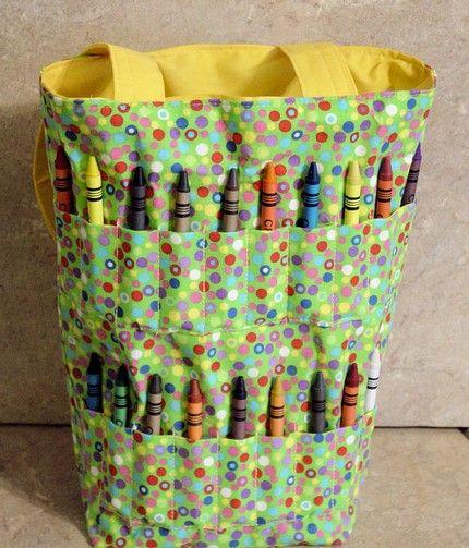 Inexpensive Christmas Idea Crayon Wrap Crayon Apron Or Crayon Tote Crayon Roll Coloring Books Inexpensive Christmas
