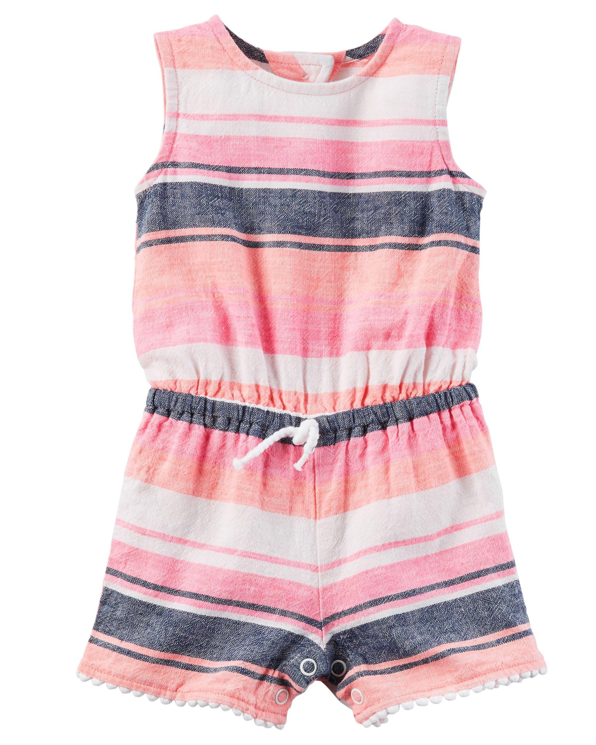 Baby Girl Striped Romper | Carters.com