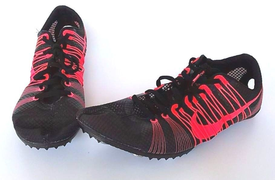 b9cc6e4b4318 New Nike Flywire Victory 2 Distance Racing Run Track Spikes Black Pink Mens  10  Nike  DistanceRacing