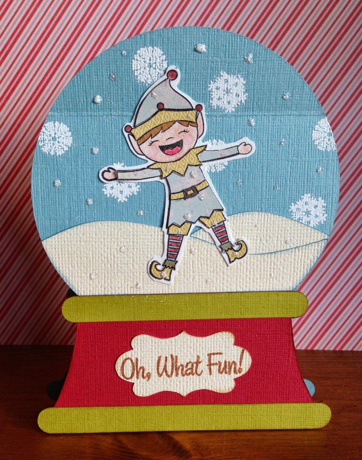 Snow Globe card Snow globes, Paper crafts, Cards