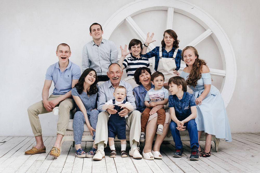Большая счастливая семья | Фотографии больших семей ...