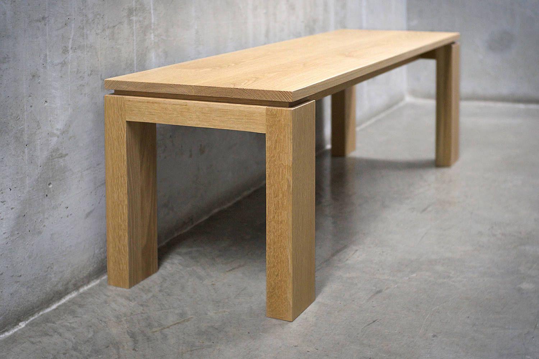 Solid White Oak Bench White Oak Bench Oak Bench Minimalist