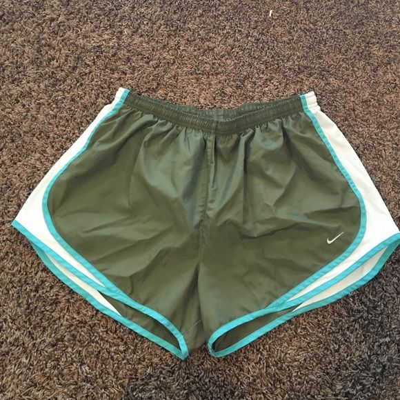 Nike Tempo shorts Olive green/teal XL good condition Nike Shorts