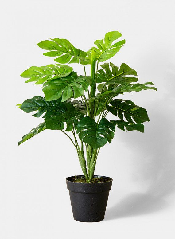 18in Artificial Split Leaf Philodendron Fake Plants Decor