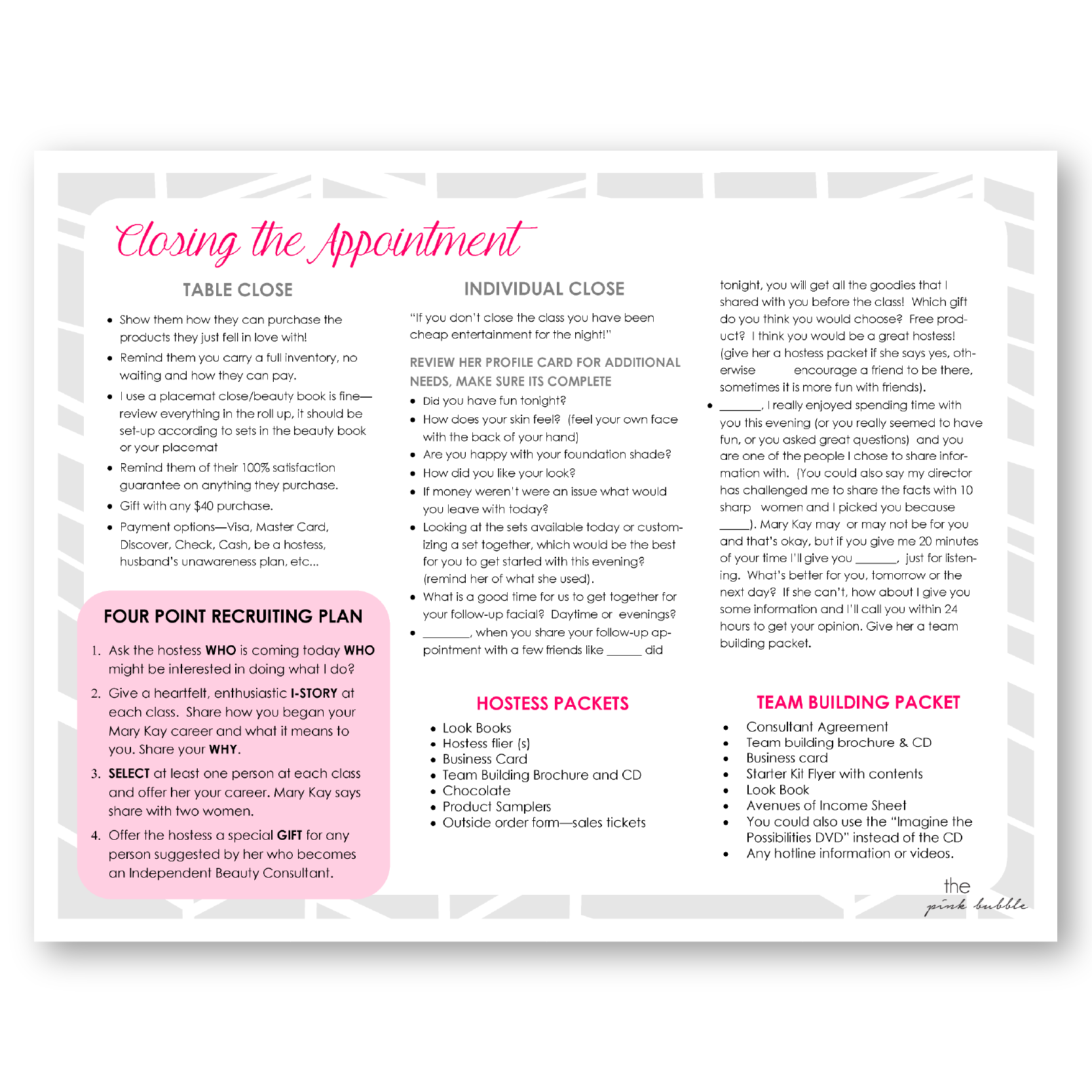Mary Kay Pink Marketing Half Sheets Find It At WwwThepinkbubble