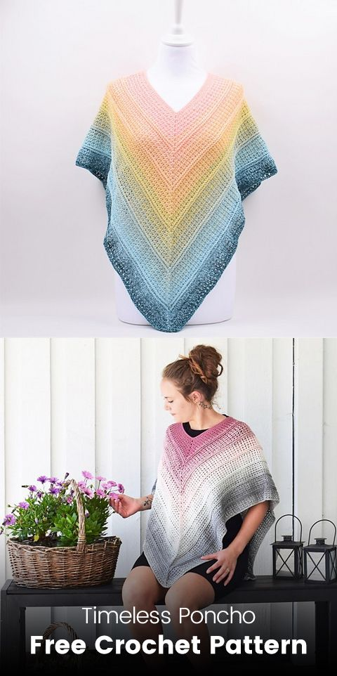Timeless Poncho Free Crochet Pattern | DIY | Pinterest | Ponchos and ...