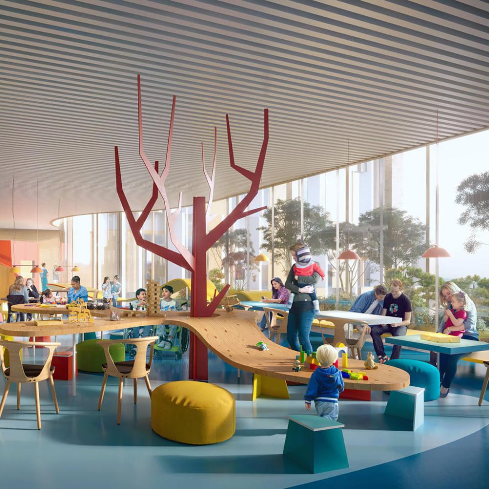 Copenhagen children's hospital børneriget 3xn