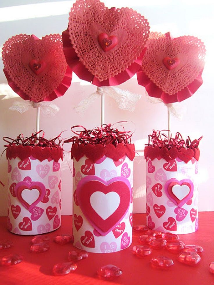 Diy valentines day table decorations