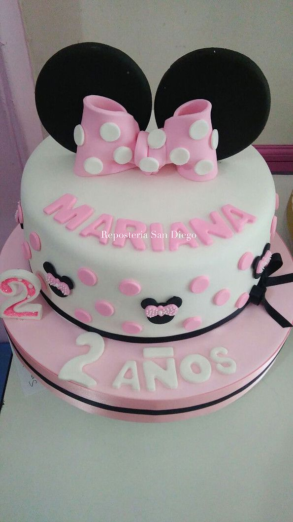 Bolo Minnie Rosa Minnie Rosa Pinterest Minnie mouse Mice