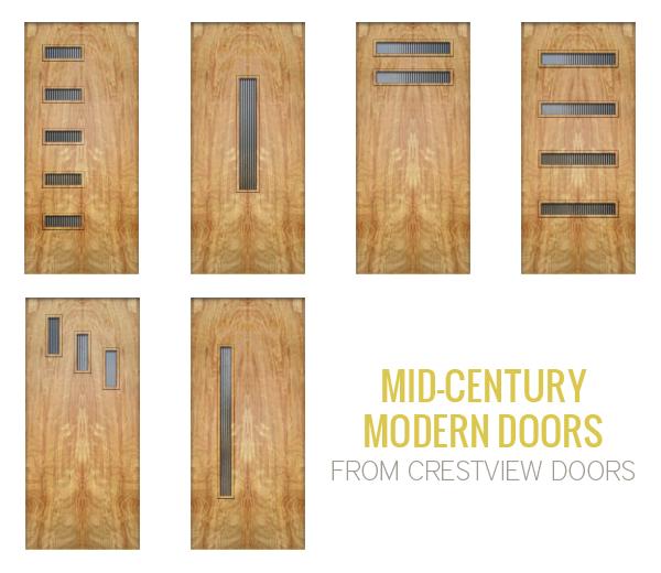 Mid Century Modern Doors Eve