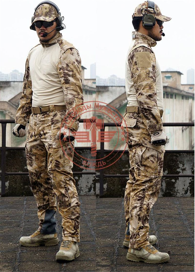 Kryptek Jacket/ Battle Snake Jacket Coat Kryptek Ripstop Jacket Gentle Typhon Combat Jacket Outdoor Hunting Uniforms