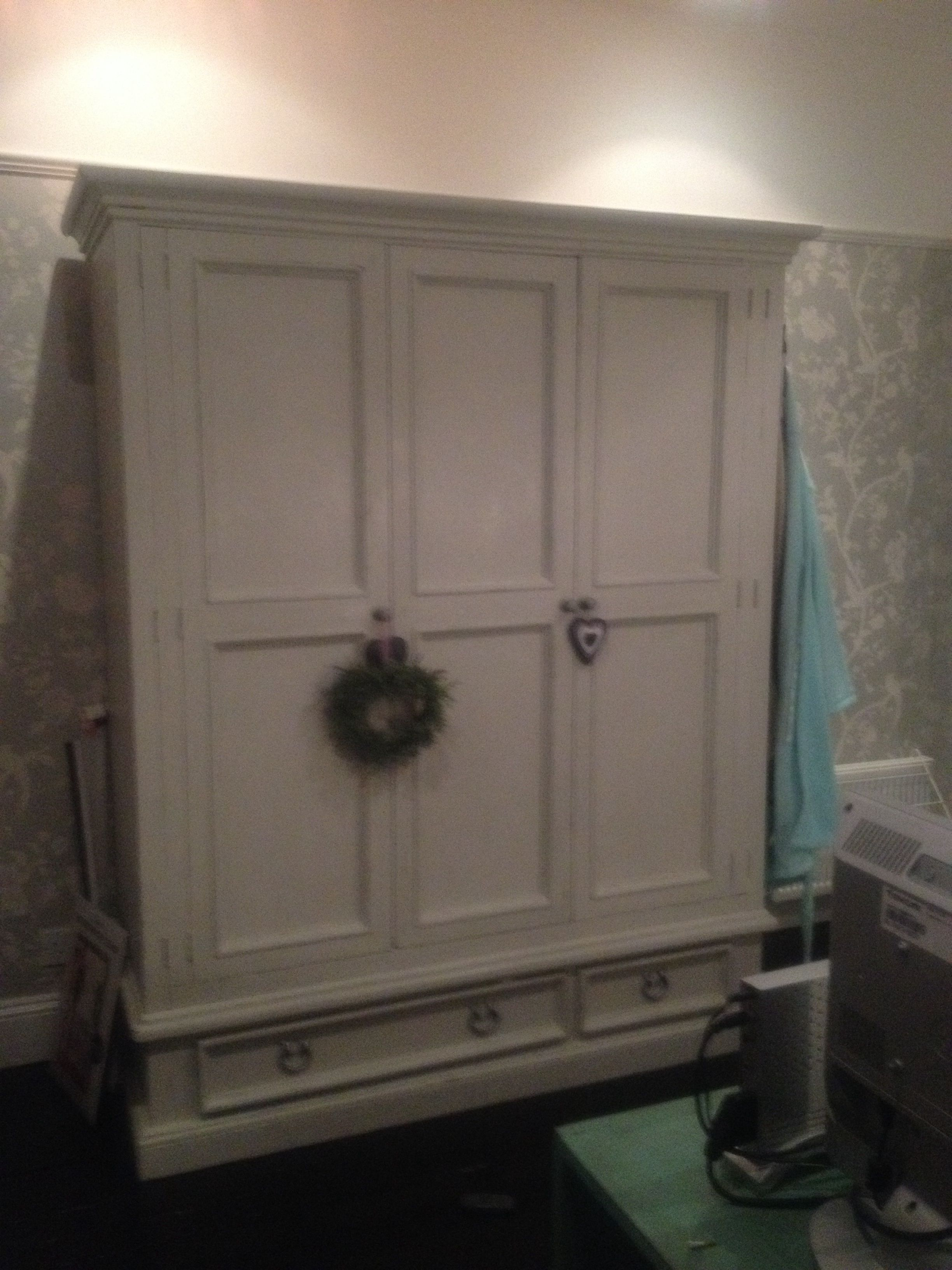 Second hand pine wardrobe painted in authentico chalk paint