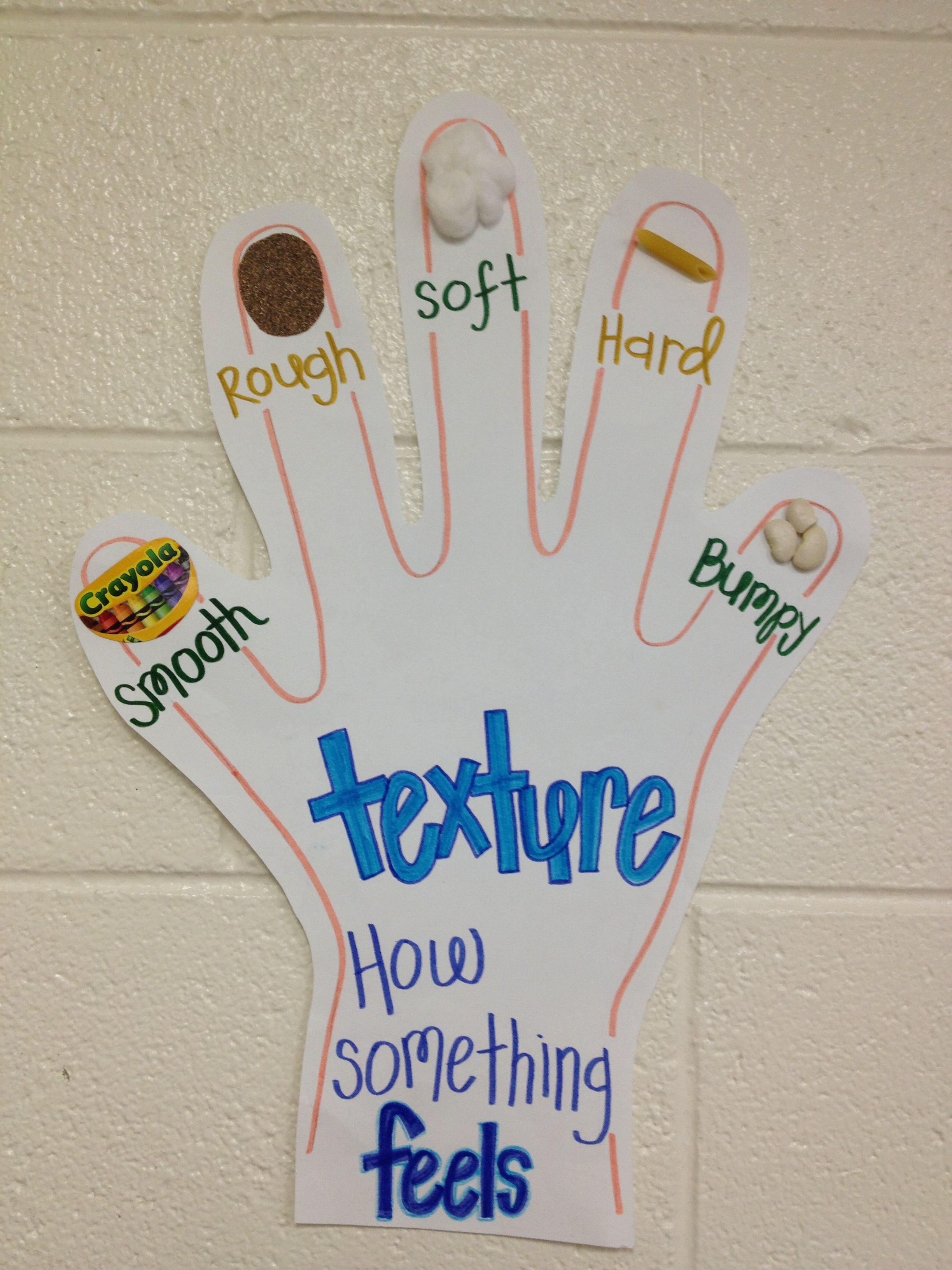Texture Anchor Chart My Kiddos Picked Out The Different