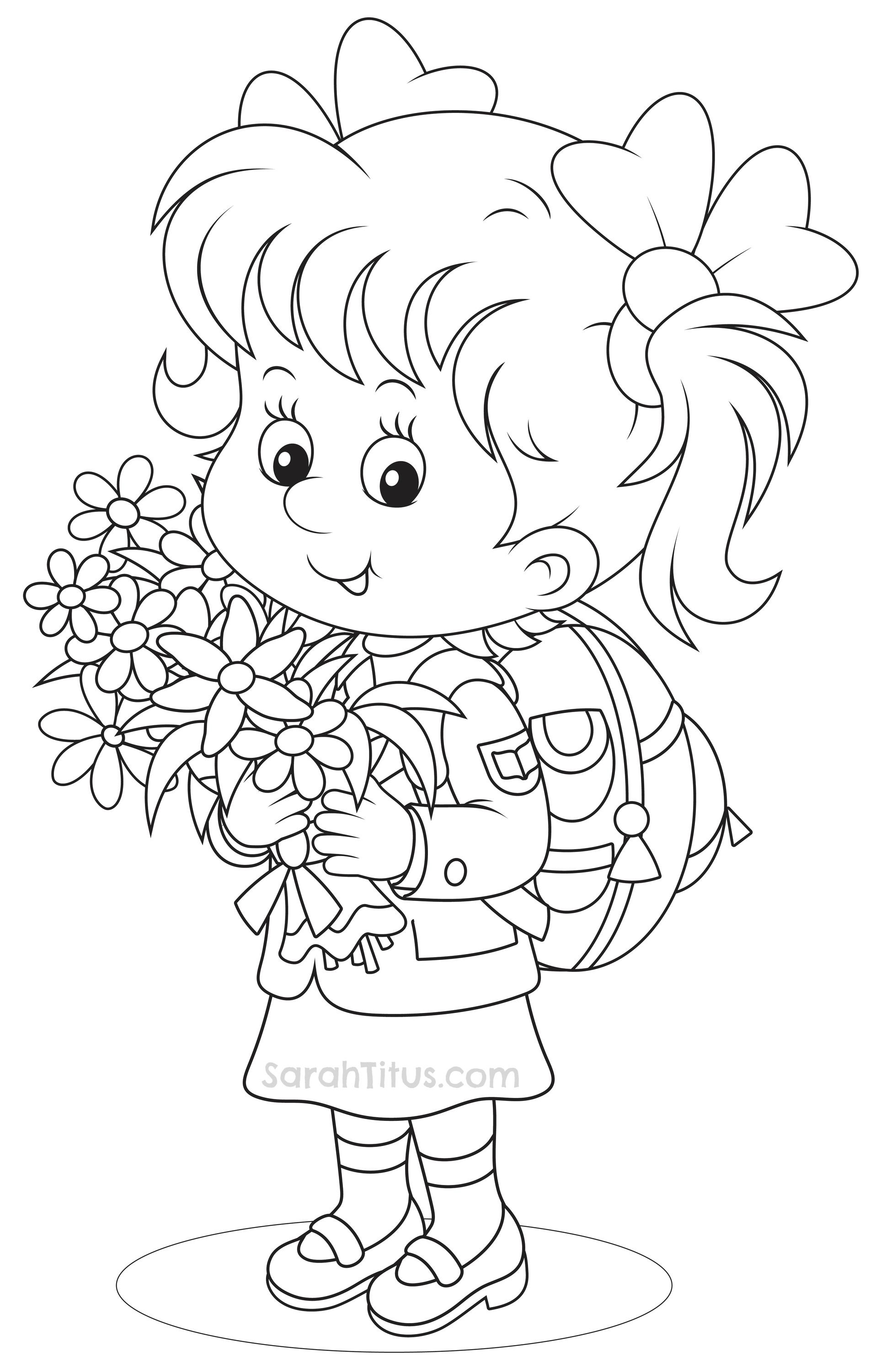 Back to School Coloring Pages | Colorear, Escuela y Dibujo