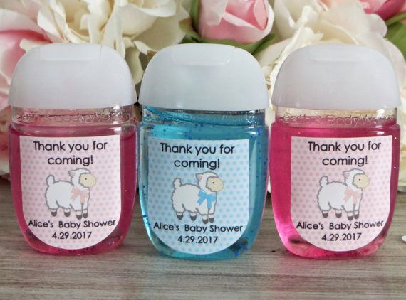Lamb Hand Sanitizer Labels Lamb Baby Shower By Wildsugarberries
