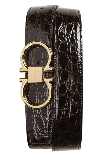 0eacf87674 SALVATORE FERRAGAMO CROCODILE LEATHER BELT.  salvatoreferragamo ...
